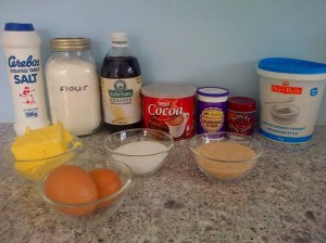 Chocolate cupcakes ingredients 2