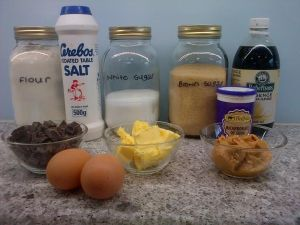 Peanut butter choc chip cookies ingredients