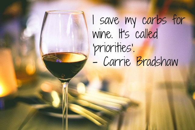 Carrie Bradshaw quote wine 1